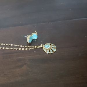 Catherine Pope necklas and earrings